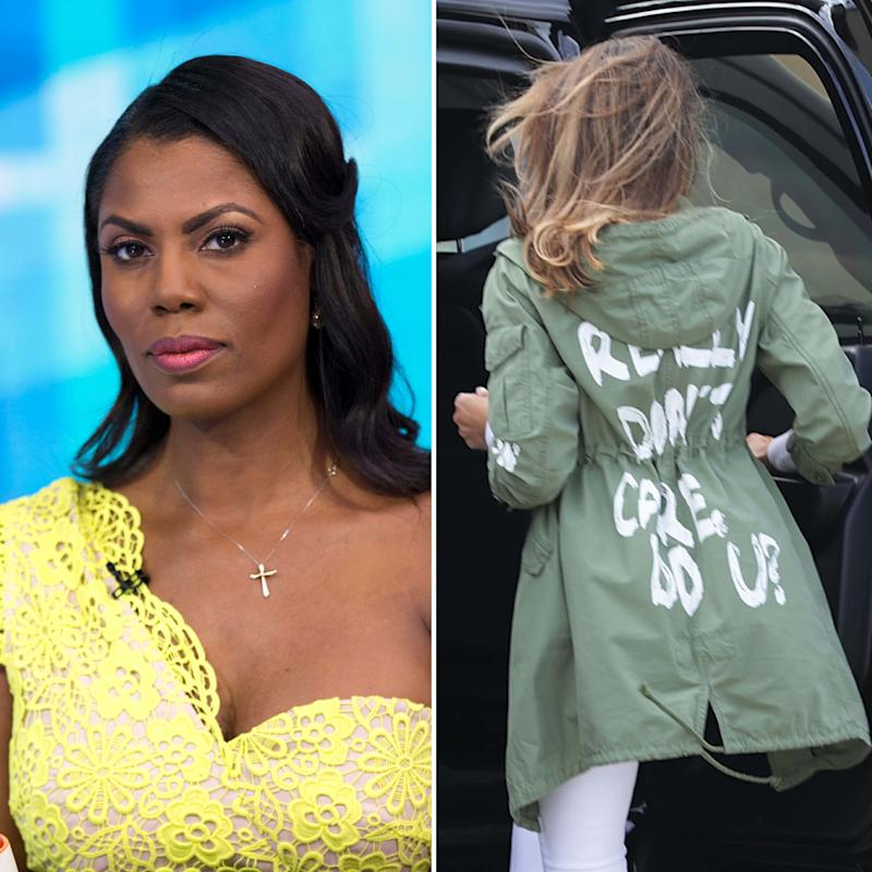 74121337a Omarosa's Book Claims Melania Trump Wears Controversial Clothes to