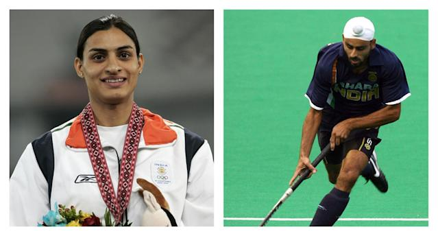 Hockey player Gurwinder married 400m runner Manjeet in a traditional Sikh ceremony in 2015. Both have represented India at the Olympics.