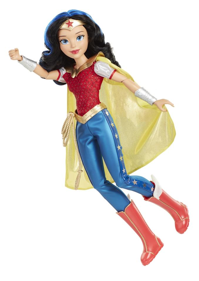 "<p>Each figure in the Action Pose line of DC Super Hero Girls stands 18-inches tall and has 12 points of articulation. Available exclusively at Toys ""R"" Us this fall; $34.99 each. (Courtesy of Jakks Pacific) </p>"