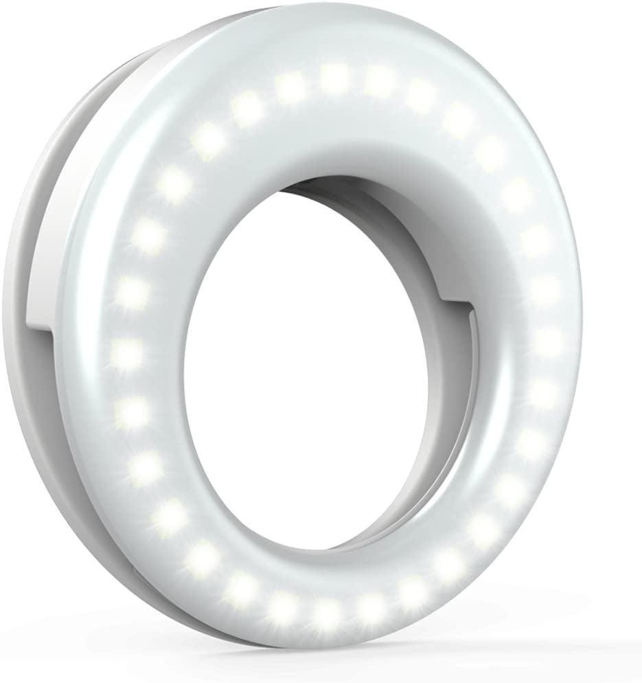 <p>If they love documenting their travels with selfies and vlogs, they'll thank you endlessly for this <span>QIAYA Selfie Light Ring </span> ($13). It's rechargeable and clips right onto their phone. </p>