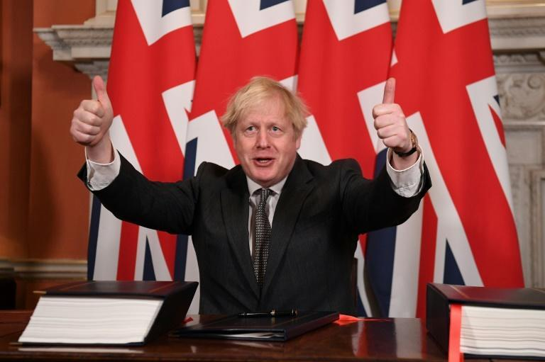 Britain's Prime Minister Boris Johnson is looking not only to a future free of Covid but also of rules set in Brussels