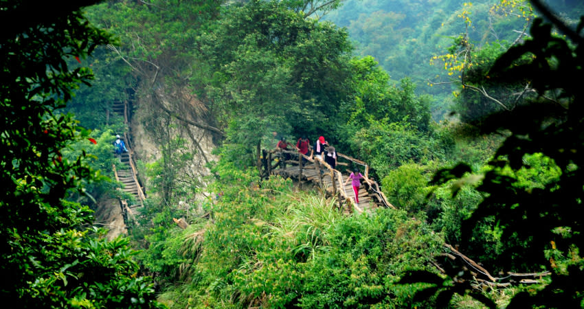 The Dakeng trails are scattered on the east and west sides of the scenic area and are numbered in order from 1 to 10. (Photo courtesy of Taipei Walker)