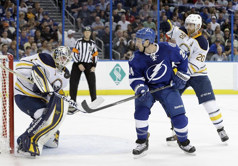 Sabres spoil Stamkos' return with 3-1 win