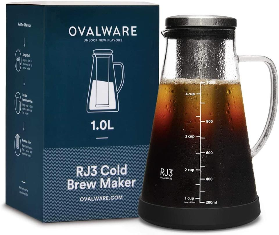 <p>If she loves cold brew, the sleek <span>Airtight Cold Brew Iced Coffee Maker and Tea Infuser with Spout</span> ($30) is a must-have. It's made with a stainless-steel filter and extra-thick borosilicate glass. It's even dishwasher safe.</p>