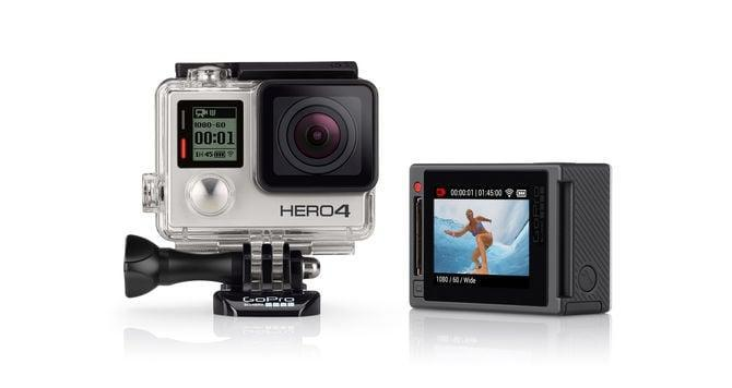"""<p>The <a href=""""https://www.popsugar.com/buy/Hero6-Black-108547?p_name=Hero6%20Black&retailer=amazon.com&pid=108547&price=269&evar1=geek%3Aus&evar9=36026397&evar98=https%3A%2F%2Fwww.popsugar.com%2Ftech%2Fphoto-gallery%2F36026397%2Fimage%2F36026409%2FGoPro-Hero6-Black&list1=gifts%2Choliday%2Cgift%20guide%2Cdigital%20life%2Cfathers%20day%2Choliday%20living%2Ctech%20gifts%2Cgifts%20for%20men&prop13=api&pdata=1"""" class=""""link rapid-noclick-resp"""" rel=""""nofollow noopener"""" target=""""_blank"""" data-ylk=""""slk:Hero6 Black"""">Hero6 Black</a> ($269) features touch-zoom and automatically sends your footage to your phone and converts it into an edited QuikStory video. Don't underestimate its two-inch display - it can capture incredible 4K video at 60 frames per second and 1080p at 240 fps. The latest action camera offers the best image quality yet, minus the shakes and vibrations.</p>"""