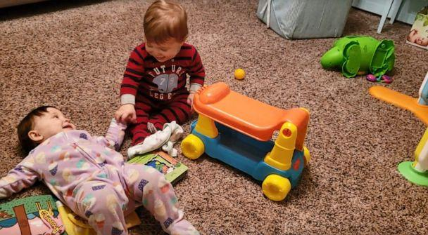 PHOTO: On Jan. 12 at 5:45 p.m., after three days on life support, Anders Jungling, pictured with his twin, Linnea, died at 11 months old. An investigation determined he died from positional asphyxia while sleeping in a car seat at his daycare facility. (Ryne Jungling)