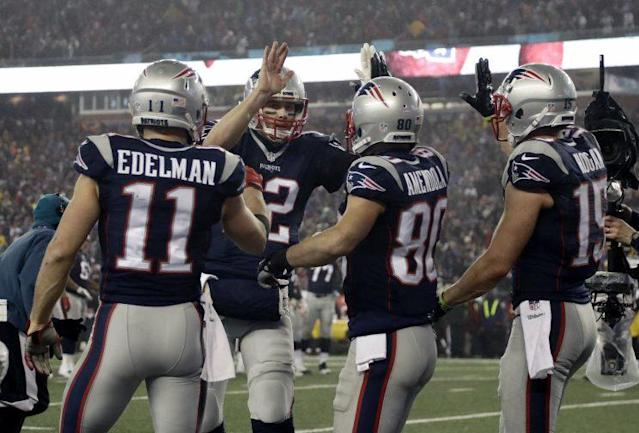 Tom Brady and the Patriots are going to the Super Bowl. It's the Patriots' ninth AFC crown. (AP)