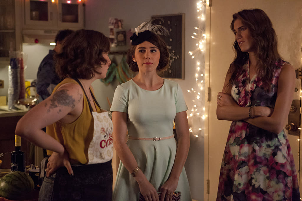 "Lena Dunham, Zosia Mamet and Allison Williams in the ""Girls"" Season 2 episode, ""It's About Time."""