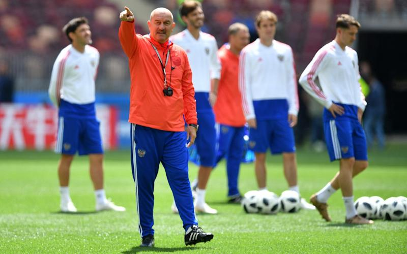 Stanislav Cherchesov is aiming to guide his Russia side out of Group A on home soil - Getty Images Europe