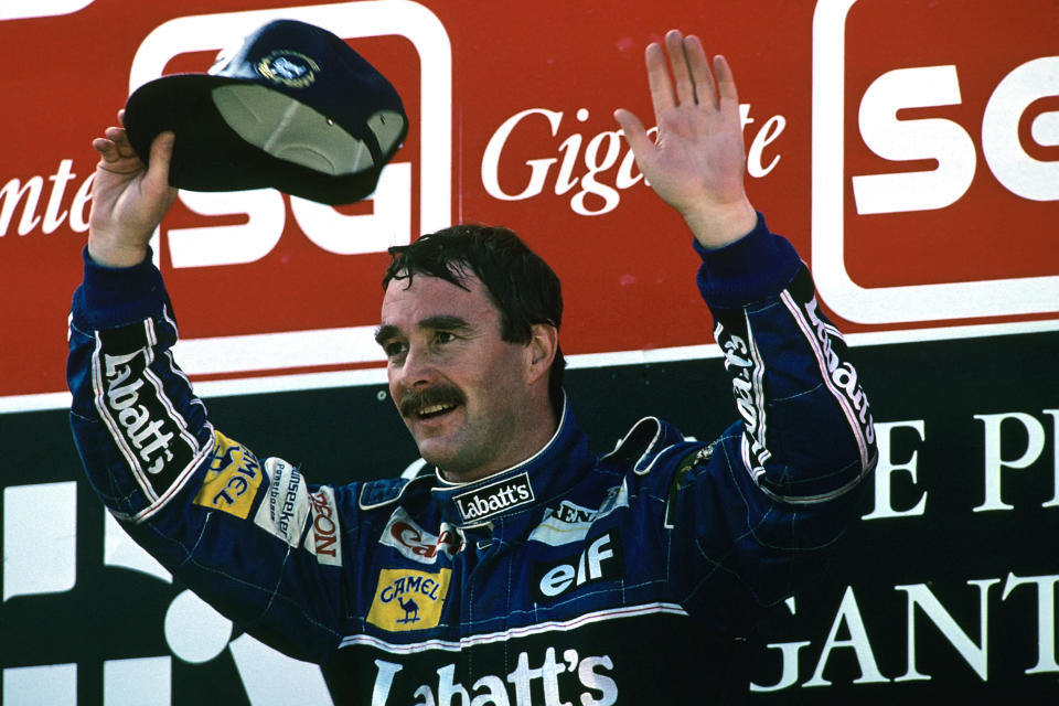 Nigel Mansell at the 1992 Portuguese Grand Prix