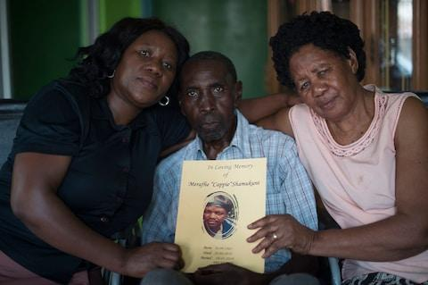 Cappi Shama Kuni (pictured) was killed by an elephant in Kasane in May. Here, his sister Dorcus along with parents Charles and Catherine remember him - Credit: Eddie Mulholland