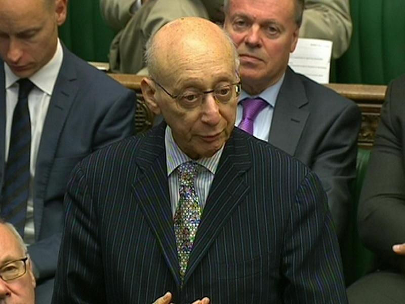 Sir Gerald Kaufman: Tom Watson says the late politician 'may have changed the course of media history' by falling out with Murdoch at Oxford University (PA)