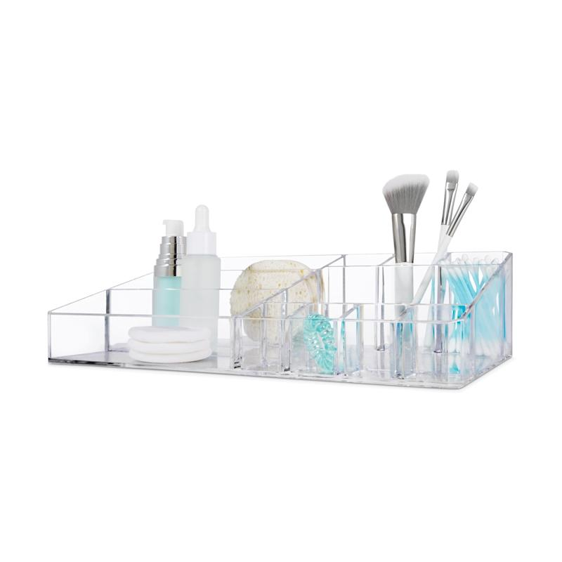 Kmart cosmetic organiser with various makeup tools
