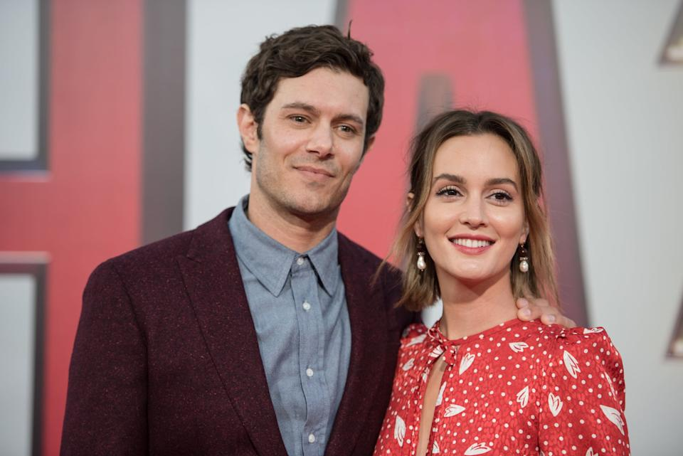 HOLLYWOOD, CALIFORNIA - MARCH 28: Adam Brody and Leighton Meester arrive at Warner Bros. Pictures and New Line Cinema's world premiere of