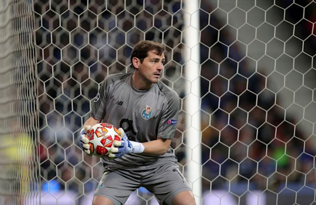 Porto goalkeeper Iker Casillas reportedly suffered a heart attack during training. (AP Photo/Luis Vieira)