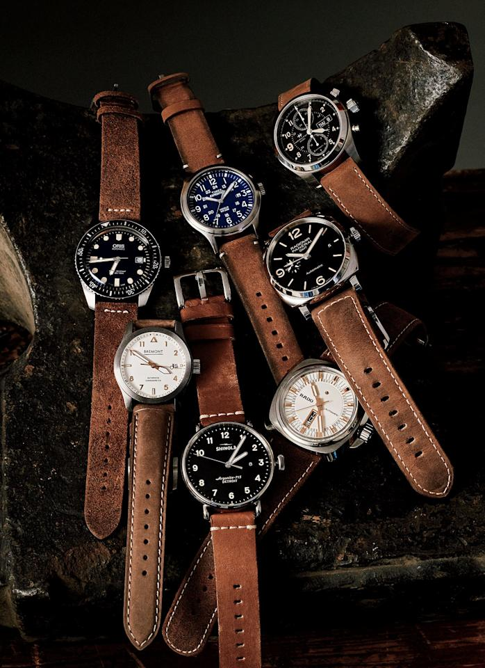 <p>The theme among our favorite vintage-inspired watches right now? That would be beat-up, broken-in, and just plain cool straps in handsome hues of brown that add some well-worn dimension to even the fanciest complications and cases.</p>