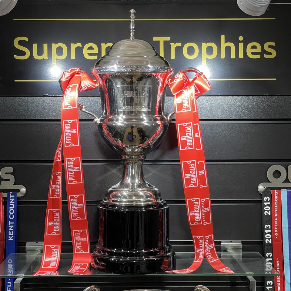 Hornchurch and Warrington Rylands will do battle for the inaugural Pitching In Super Cup trophy