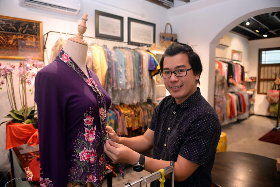 Kenny Loh is planning to come up with a line of kebaya for rent. — Picture by Steven Ooi KE