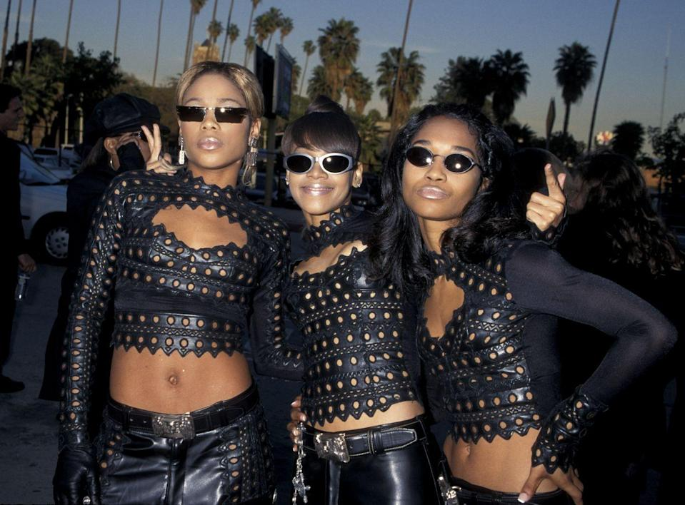 """<p>If you've ever belted out """"Waterfalls"""" in your car, then you have TLC to thank. The group was formed in 1991 and blew up during the '90s, becoming the second best-selling girl group in history. Lisa """"Left Eye"""" Lopes tragically passed away in 2002 in a car accident, however the two other members continue to perform together.</p>"""
