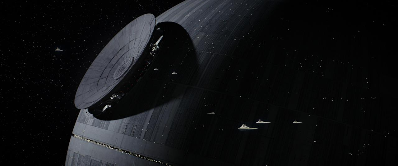 <p>But the Death Star isn't so deadly at first. While the construction of the superstructure uses existing technology and is assembled to specs, the station's signature weapon, the superlaser, is underpowered, unable to blast a planet to smithereens. (Photo: Lucasfilm) </p>