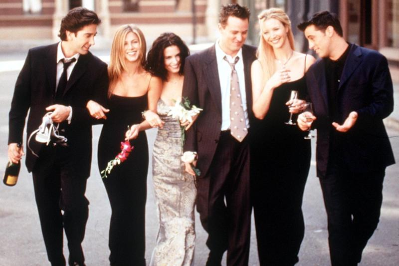 David Schwimmer, Jennifer Aniston, Courteney Cox Arquette, Matthew Perry, Lisa Kudrow And Matt Leblanc in a promotional shot for Friends: Getty Images