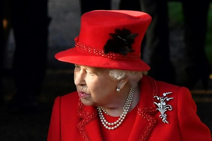 """Queen Elizabeth II described 2019 as """"quite bumpy"""" after a year of crises in the royal family (AFP Photo/Ben STANSALL)"""