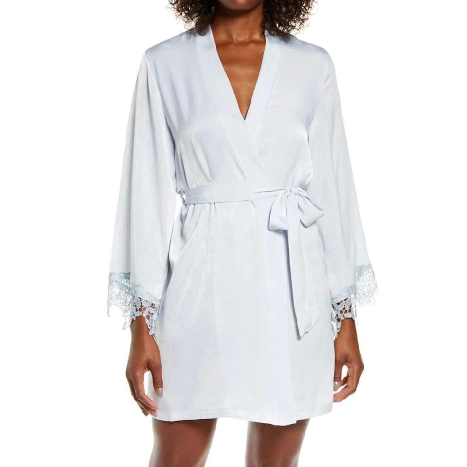 """For something pretty but not precious, reach for this floral print robe you can waft around the house while <a href=""""https://www.imdb.com/title/tt0051383/"""" rel=""""nofollow noopener"""" target=""""_blank"""" data-ylk=""""slk:Auntie Mame"""" class=""""link rapid-noclick-resp""""><em>Auntie Mame</em></a> plays in the background. $62, Nordstrom. <a href=""""https://www.nordstrom.com/s/in-bloom-by-jonquil-know-a-secret-satin-wrap-robe/5684326?"""" rel=""""nofollow noopener"""" target=""""_blank"""" data-ylk=""""slk:Get it now!"""" class=""""link rapid-noclick-resp"""">Get it now!</a>"""