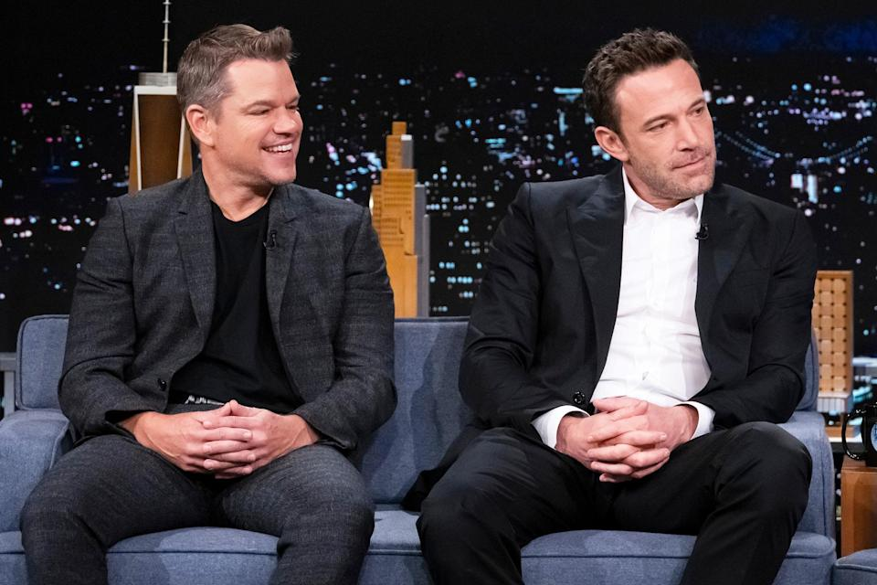 <p>Matt Damon and Ben Affleck reunite to guest star on <em>The Tonight Show Starring Jimmy Fallon</em> on Oct. 13 in N.Y.C.</p>