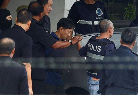 North Korean suspect in Kim Jong Nam murder, Ri Jong Chol, leaves a Sepang police station to be deported, in Malaysia March 3, 2017. REUTERS/Alexandra Radu