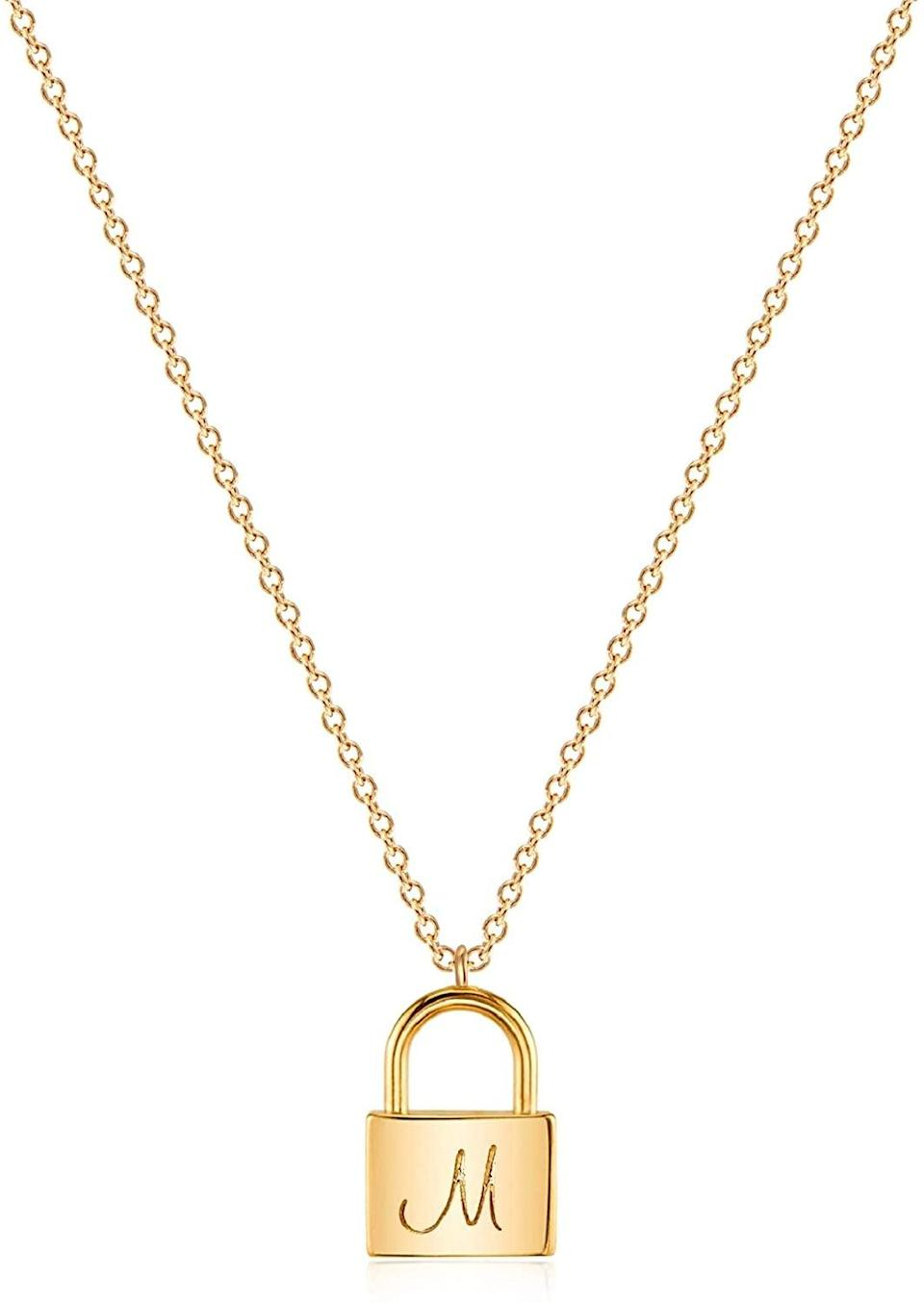 <p>We love the sentimental look of this <span>Mevecco Gold Initial Necklace</span> ($13).</p>