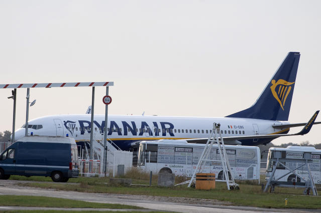 A Ryanair plane as it revealed its latest results. (AP)