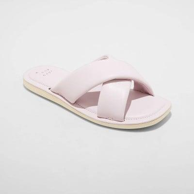 <p>Trust me and hundreds of TikTok users, these <span>A New Day Daisy Crossband Slide Sandals</span> ($15) feel like you're walking on pillows. They come in a few other colors but sizes are already selling fast.</p>