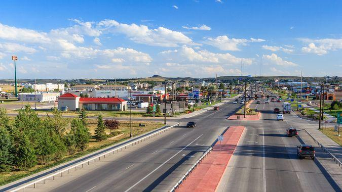 Gillette Wyoming aerial view