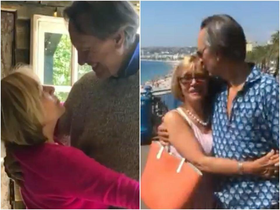 Grant shared some treasured photos with his wife to Twitter (Richard E Grant/Twitter)