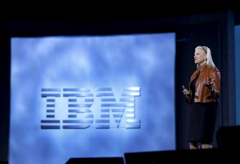 IBM's Rometty speaks during a keynote address at the 2016 CES trade show in Las Vegas