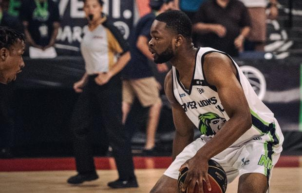 The Niagara River Lions led the entire way en route to claiming a 86-74 victory over the winless Saskatchewan Rattlers on Tuesday night at the Meridian Centre in St. Catharines, Ont. (@RiverLions/Twitter - image credit)