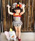 """<p>Oversized ears and a big smile are all your little one needs to fly like the Disney-famous elephant this Halloween. Pull this charming look together with Mary Janes and a big red bow. </p><p><strong>See more at <a href=""""https://www.instagram.com/p/BvMR39PAauA/"""" rel=""""nofollow noopener"""" target=""""_blank"""" data-ylk=""""slk:@aprincess.blog"""" class=""""link rapid-noclick-resp"""">@aprincess.blog</a>. </strong></p><p><a class=""""link rapid-noclick-resp"""" href=""""https://www.amazon.com/Wildlife-Artists-Elephant-Headband-Accessory/dp/B00FWX6YIC?tag=syn-yahoo-20&ascsubtag=%5Bartid%7C10050.g.29402076%5Bsrc%7Cyahoo-us"""" rel=""""nofollow noopener"""" target=""""_blank"""" data-ylk=""""slk:SHOP ELEPHANT EARS"""">SHOP ELEPHANT EARS</a></p>"""