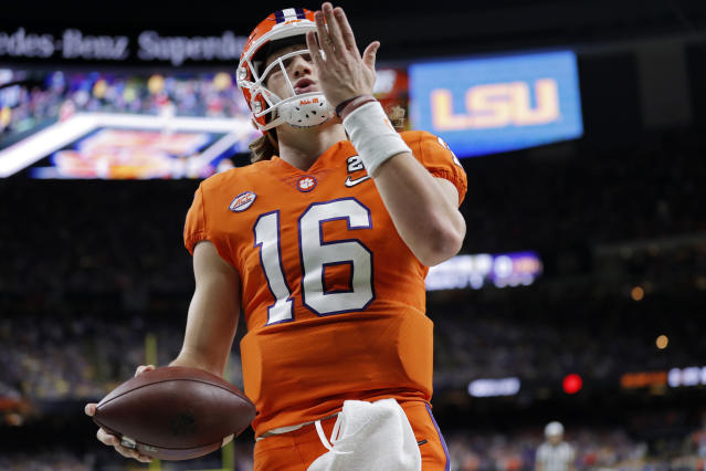 Clemson quarterback Trevor Lawrence is the presumptive top pick in the 2021 NFL draft. (AP Photo/Gerald Herbert)
