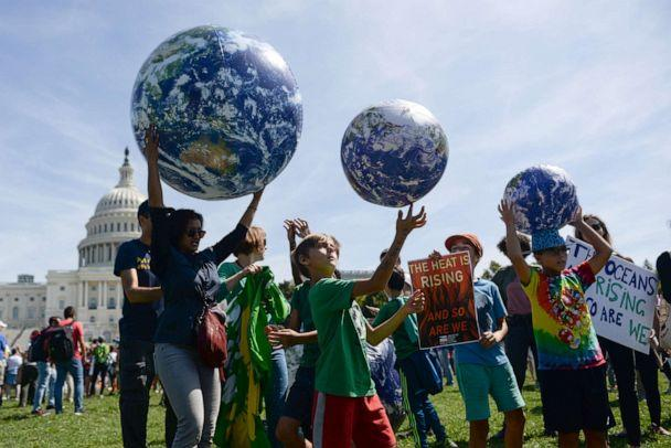 PHOTO: Young protesters participate in a rally near the U.S. Capitol as part of the D.C. Climate Strike March to demand action on climate change in Washington, September 20, 2019. (Erin Scott/Reuters)