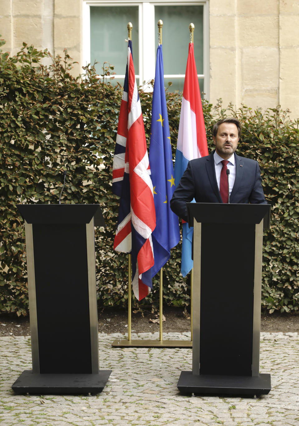 Luxembourg's prime minister, speaking at his now solo press conference, said that he knows the UK Government is unhappy with the Withdrawal Agreement as it stands.