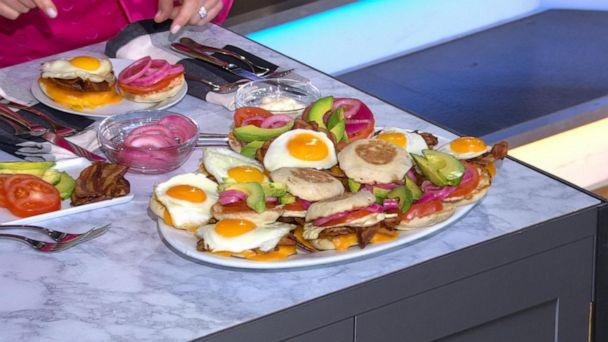 PHOTO: A platter of egg sandwiches made by Chef Ryan Scott for 'GMA' back to basics. (ABC News)