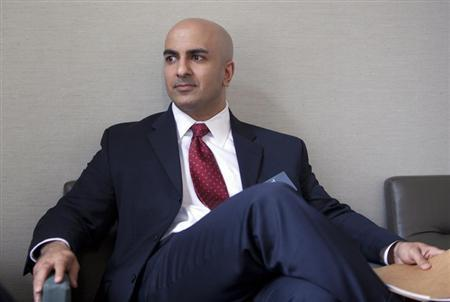 Neel Kashkari pauses during an interview in San Francisco