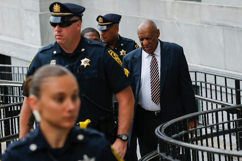 Actor Bill Cosby arrives to court as a jury deliberates for a third day whether to convict him