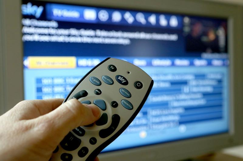 Bids: Comcast and 21st Century Fox are battling to take control of UK broadcast giant Sky: PA