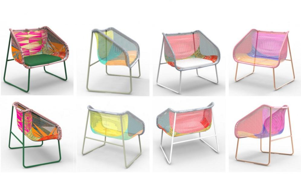 """<p>Digital knitting is weaving its way straight into the mainstream this year, since furniture behemoth IKEA is using the newfangled technology to create 3D knit furniture. The chairs shown here are prototypes for IKEA's experimental PS 2017 collection. <i>(Photo: <a href=""""http://ikea.today/category/ikea-ps-2017/"""">IKEA PS 2017</a>)</i><br /></p>"""