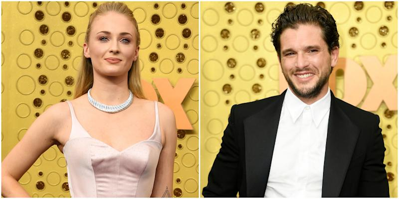 """Game of Thrones"" Stars Sophie Turner and Kit Harington Reunited House Stark at Emmys 2019"