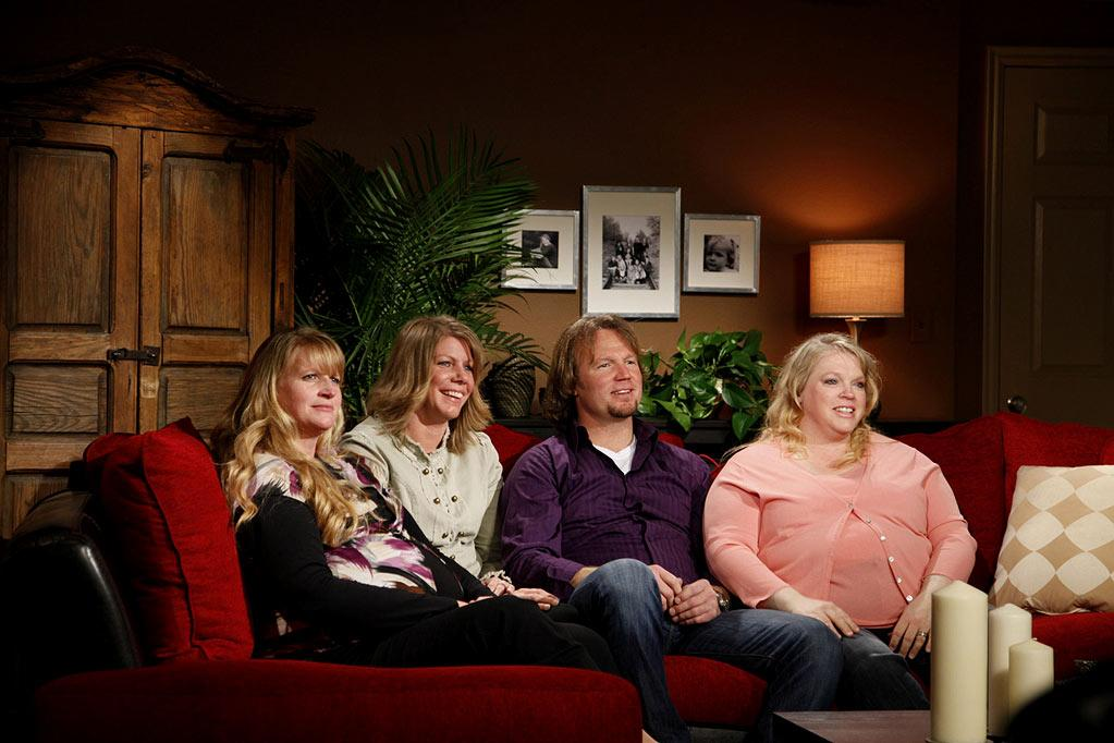 """Christine, Meri, Kody, and Janelle as seen on """"Sister Wives."""""""