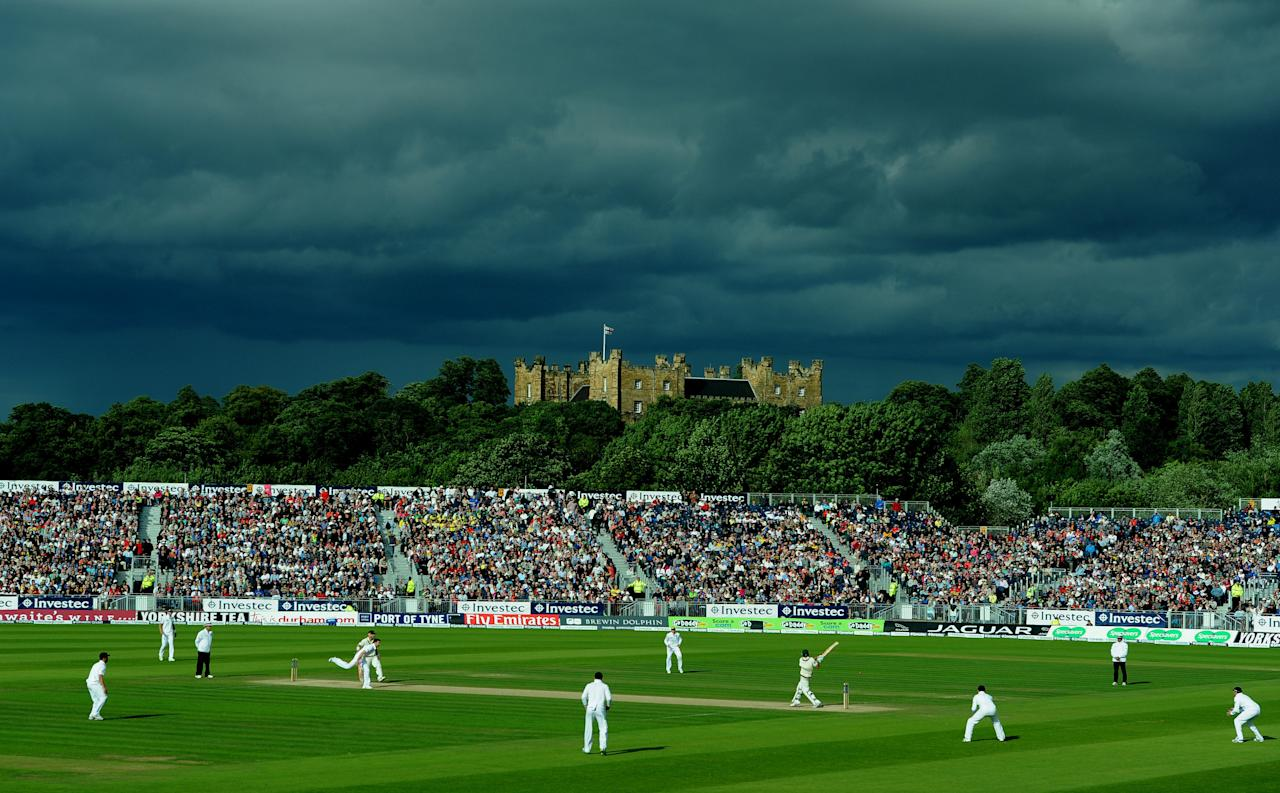 Storm clouds during day four of the Fourth Investec Ashes test match at the Emirates Durham ICG, Durham.