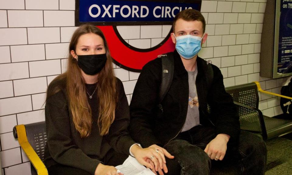 Alicia and Josh said wearing a face covering was a matter of individual choice