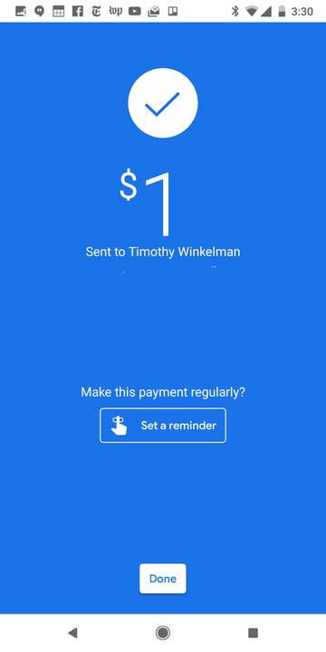 how to use google pay completed payment
